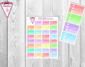 Printable To Call Half Box Checklists - Soft Colors