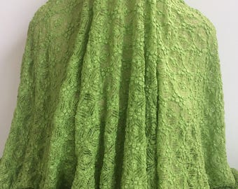 17-240 Spring Green Stretch Knit Lace - Sold by the Yard