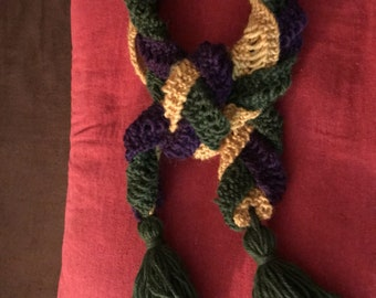Custom Made 1860s Lady's Tri Color Scarf