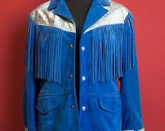 Original Schott USA Kenny Rogers collection Fringes Jacket Real Leather