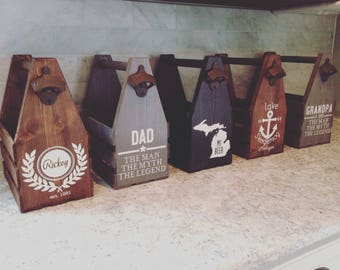 Rustic Beer Carrier, Beer Holder, Beer Tote