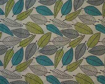 leaf leaves 100% cotton fabric 44 inch / 110cm floral sketch range