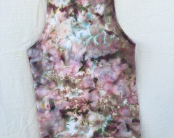 Tue dye adult tank/ice dye/hand dyed/tank top