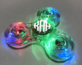 Transparent Personalized Fidget Spinner - Light Up Engraved Fidget Spinner