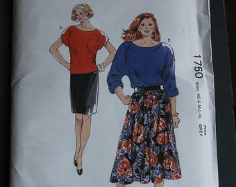 Kiwi Sew Pattern 1750 Women's boat neck Tops and shirts so xs-xl