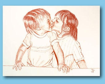 Drawing blood children love kisses