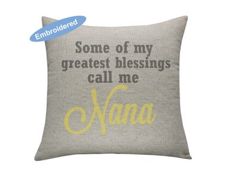 Personalized Nana Gift, Some of my greatest blessings call me nana,Grandma Gift,Nonna Gift,Mimi Gift,Granny Gift,Mother's day Gift,Son Gift