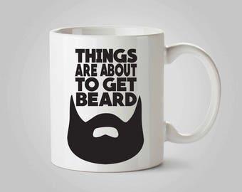 Beard Mug, Coffee Mug, Man Gift, Coffee Cup, Hipster