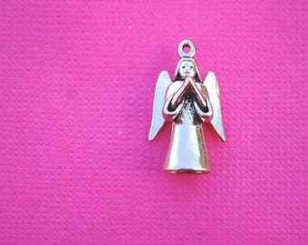 Sterling Silver Angel Charm Vintage 3D Pendant Jewelry