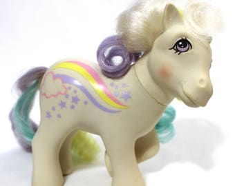 Raincurl G1 Original My Little Pony MLP Rainbow Curl Pony Vintage 80s