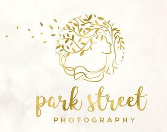 Circle logo, Rose Gold Logo, Tree logo and watermark, Custom Logo design, Photography logo and watermark, Premade logo, Custom logo 030