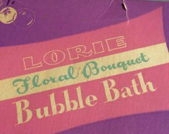Rexall Vintage Lorie Floral Bouquet Bubble Bath 1960's