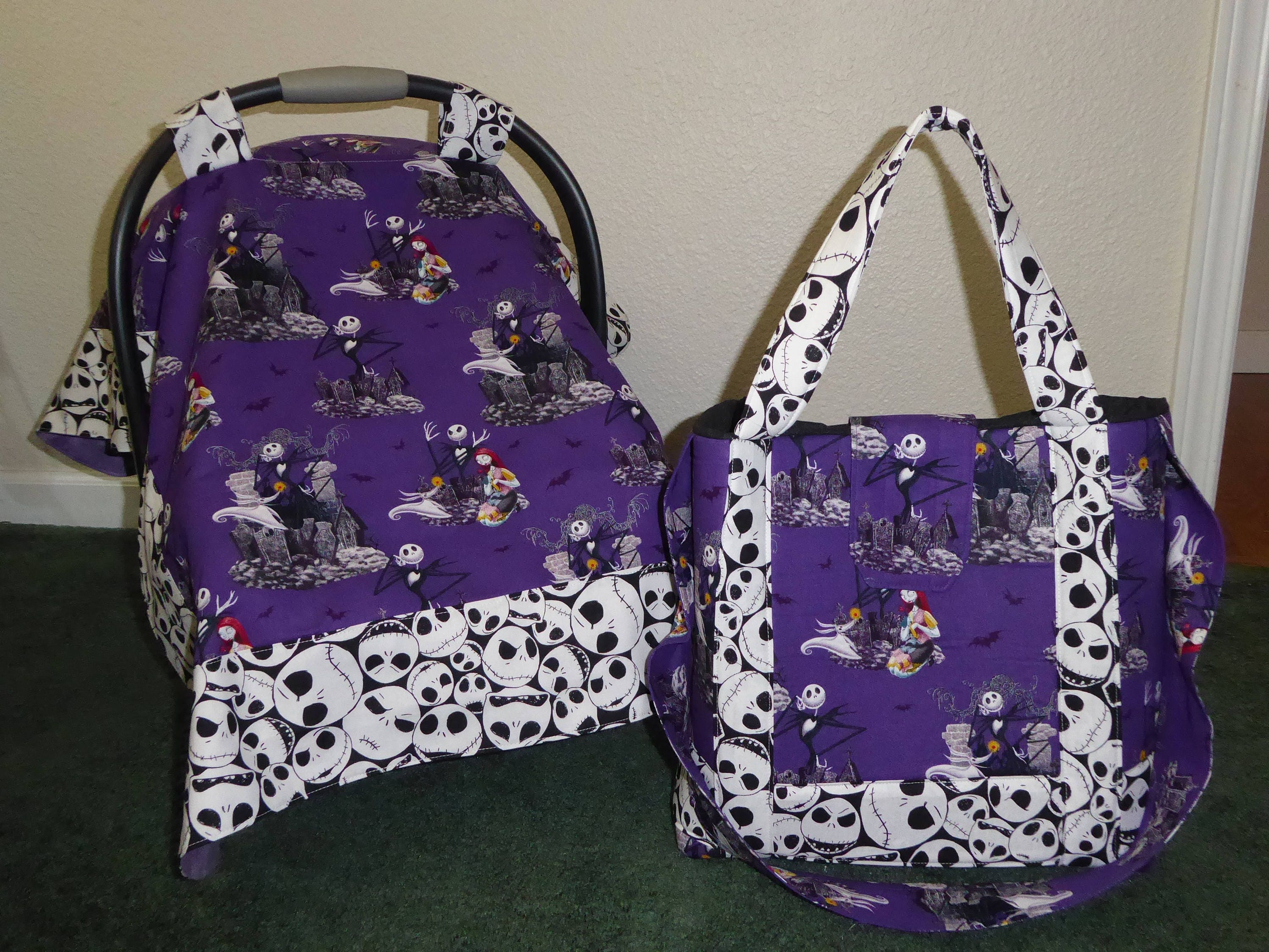 Nightmare Before Christmas Baby Car Seat Canopy Amp Diaper Tote