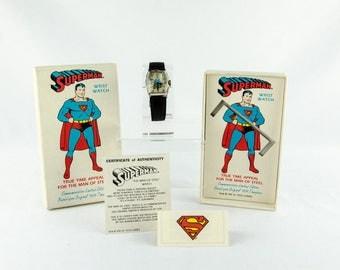 Super Rare Vintage DC Comics Commemorative Limited Edition Superman Watch