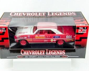 Rare Chevrolet Legends Bill Grumpy Jenkins 1966 Chevy Nova 1/18 Diecast Car