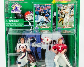 Starting Lineup Classic Doubles NFL John Elway Stanford Action Figure
