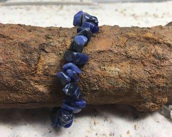 Lapis Lazuli strech Bracelet / gemstone bracelet