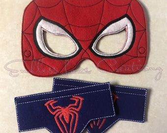 Spider Mask And Wrist Cuffs