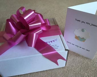 Thank You Teacher Gift - Baking Box plus Personalised Card