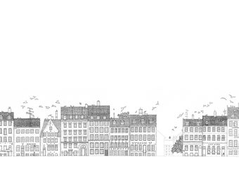 Nyhavn Print Black and White