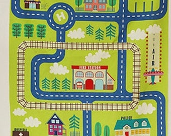 150cmx85cm Cotton Linen Fabric Car kawaii
