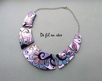 Handmade polymer paste Necklace (C49)
