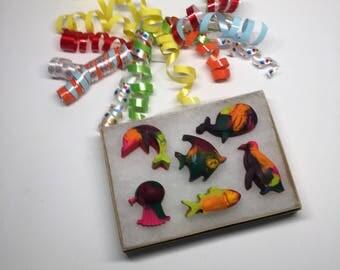 Fish Crayons, Ocean Life Crayons, Dolphin Crayons, Gifts Under 10, Kids Gift, Penguin Crayons, Crayon Gift Set, Birthday Party Gift,