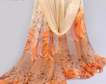 Orange rose hijab
