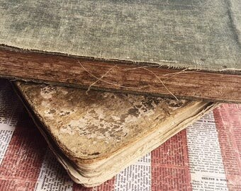 Antique Books, Vintage Books, Retro Books, Well Worn Old Books, Vintage Books for Decor
