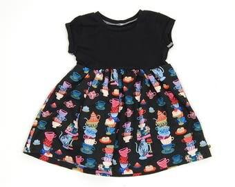 Billie dress,  alice in wonderland, mad tea party, girls dress, toddler dress