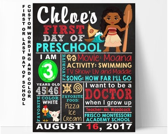First day of school sign, pre-k sign, first day of school chalkboard sign, first day of preschool sign, first day of kindergarten, printable
