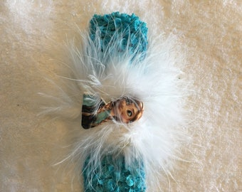Infant/Toddler turquoise Crochet Headband
