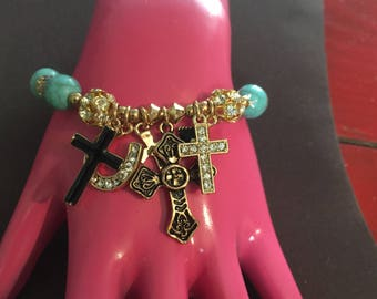 Stretch Bracelet with multiple charms