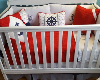 New custom made NAUTICAL  baby bedding