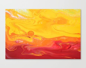 Original Abstract Wall Art Print, A2, A1, Home Decor, Interior, Sunrise