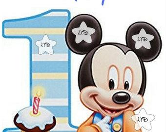 Mickey 1st Birthday Digital Image or Transfer