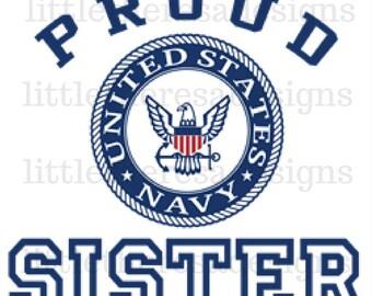 Proud Sister Transfer, Digital Transfer , Digital Iron On,DIY