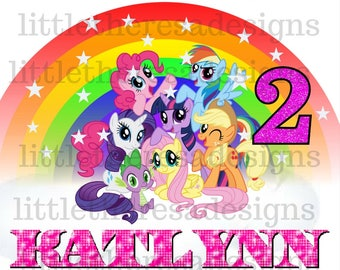My Little Pony Birthday Girl and Family Transfers,Digital Transfers,Digital Iron Ons,DIY