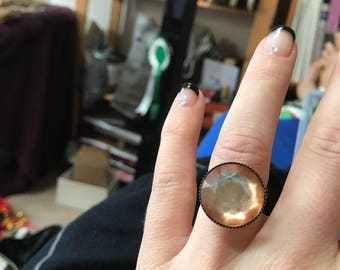Orange gem ring