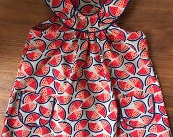 """/ Summer dress """"Watermelons"""" from light cotton, Gr. 86 / OEKO-TEX 100"""