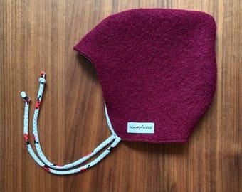 "Walkmütze dark red ""ladybug""/Gr. 40-42/OEKO-Tex Standad 100"