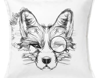 Cushions Fox with Monocle