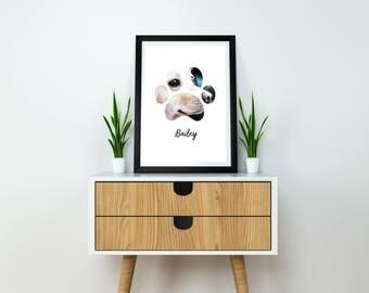Dog Photo Gift, Dog Photo, Gift Dog Print, Gift Dog Lover, Gifts Dog Framed Print, Dog Photo Print, Dog Lover Gifts, Dog Collage Print,