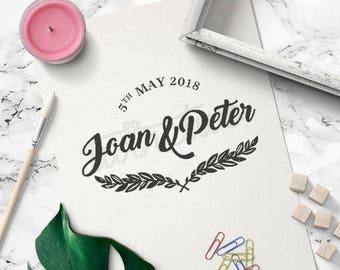 Wedding Logo Design • Wedding Monogram Design | Personalized | Ready Made | Custom | Modern | Rustic