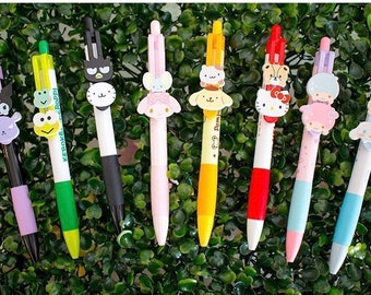 2017 NEW Sanrio pen movable heads: Hello Kitty, My Melody, Little Twin Stars, Cinnamoroll, Pompompurin, Badbatzmaru!