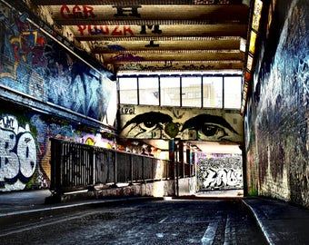 London, UK, Great Britain, Street Art, Street Photography, Urban, Leake Street Graffiti Tunnel,Waterloo, Fine Art photography
