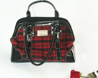 90s Red Plaid Purse