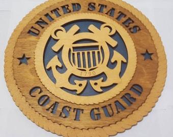 Coast Guard Wall Plaque Wooden Model