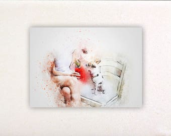 Dog - Watercolor prints, watercolor posters, nursery decor, nursery wall art, wall decor, wall prints 10 | Tropparoba 100% made in Italy