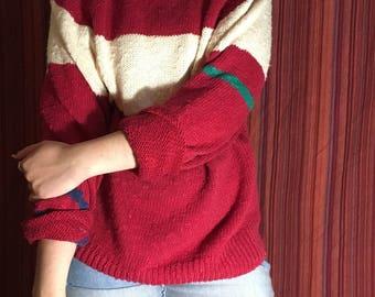 Vintage Oversized Striped Sweater